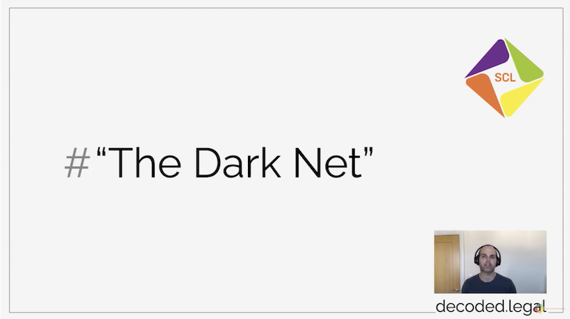 "A screenshot of the video with the title ""The Dark Net"" showing a picture of Neil"