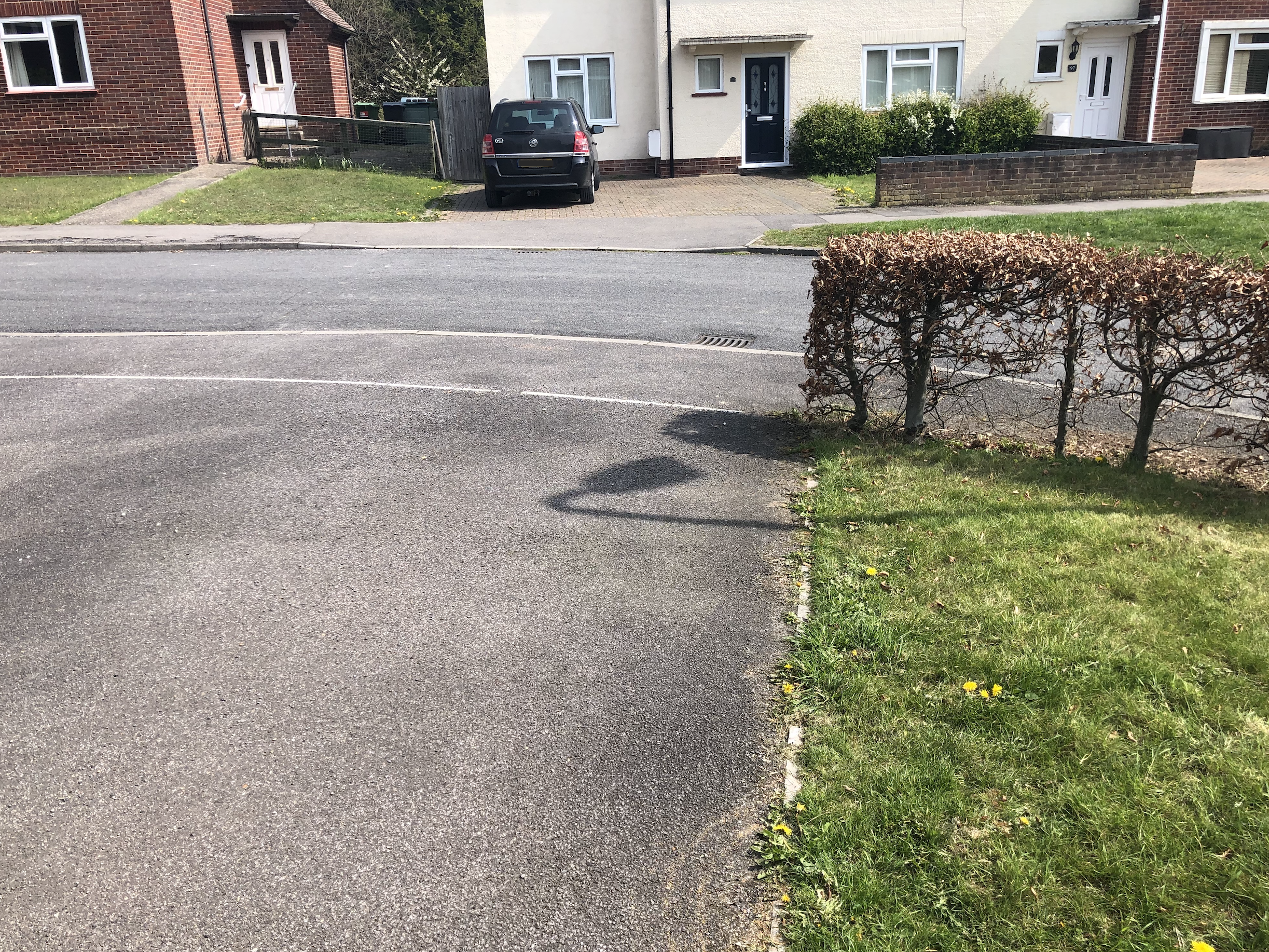 Driveway leading to road