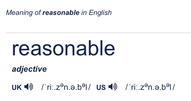 "screenshot of the word ""reasonable"""