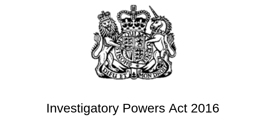 Screenshot of the top of the Investigatory Power